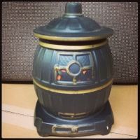 McCoy Pot Belly Stove Cookie Jar